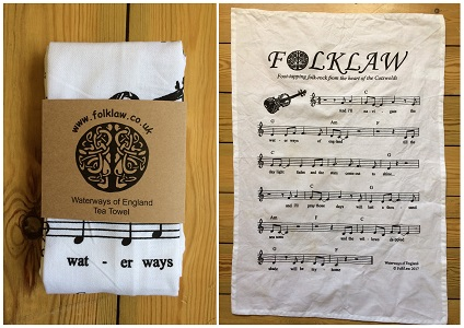 FolkLaw Waterways of England Tea Towel